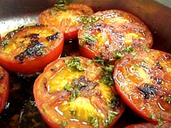 Photo of Pan Tomatoes and Grilled Steak or Burgers recipe