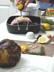 Photo of Roast Glazed Leg of Lamb with Lots of Garlic recipe
